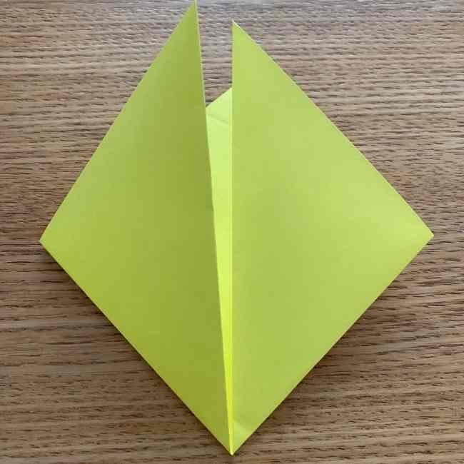 折り紙のキイロイトリの折り方作り方 (4)