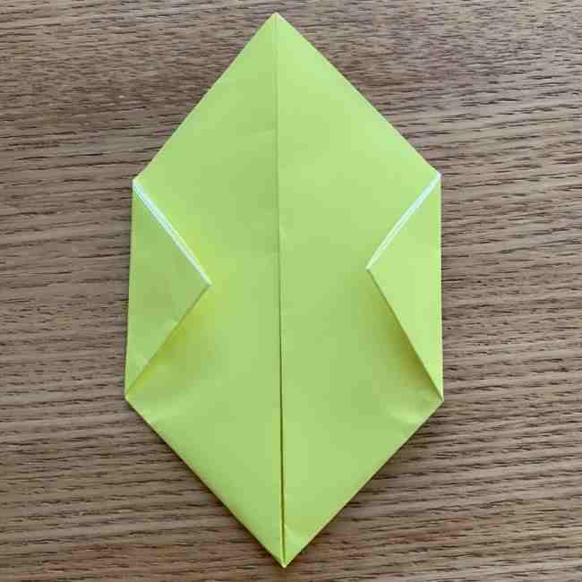 折り紙のキイロイトリの折り方作り方 (6)