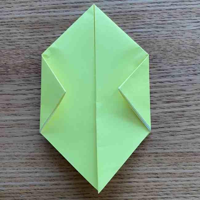折り紙のキイロイトリの折り方作り方 (7)