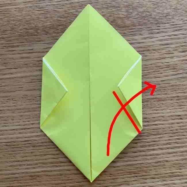折り紙のキイロイトリの折り方作り方 (8)