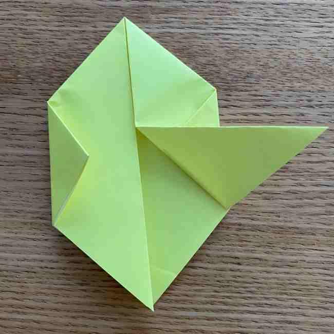 折り紙のキイロイトリの折り方作り方 (9)