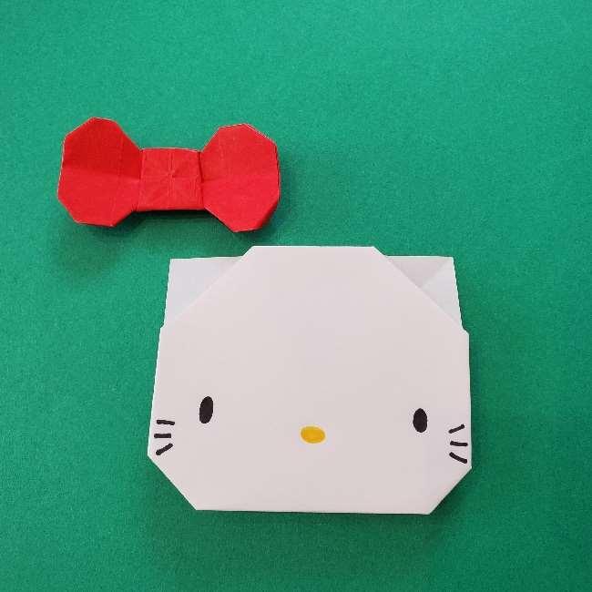 折り紙のキティーちゃんの折り方作り方 (44)