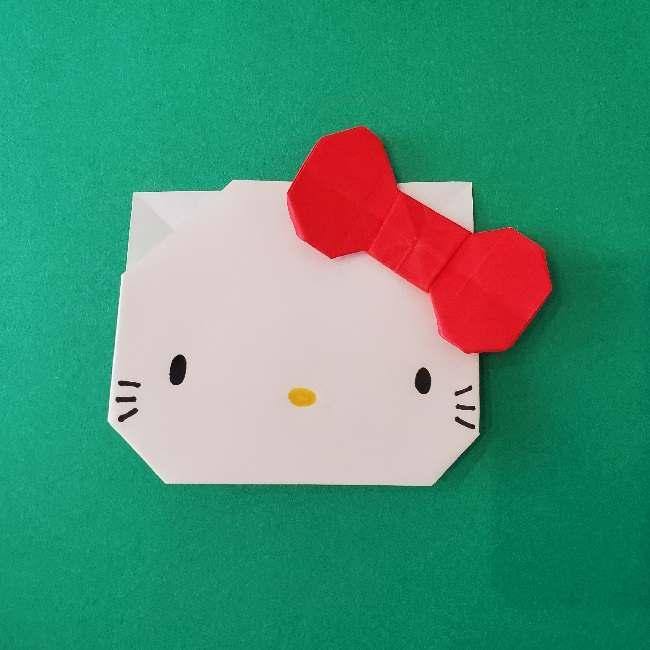 折り紙のキティーちゃんの折り方作り方 (45)