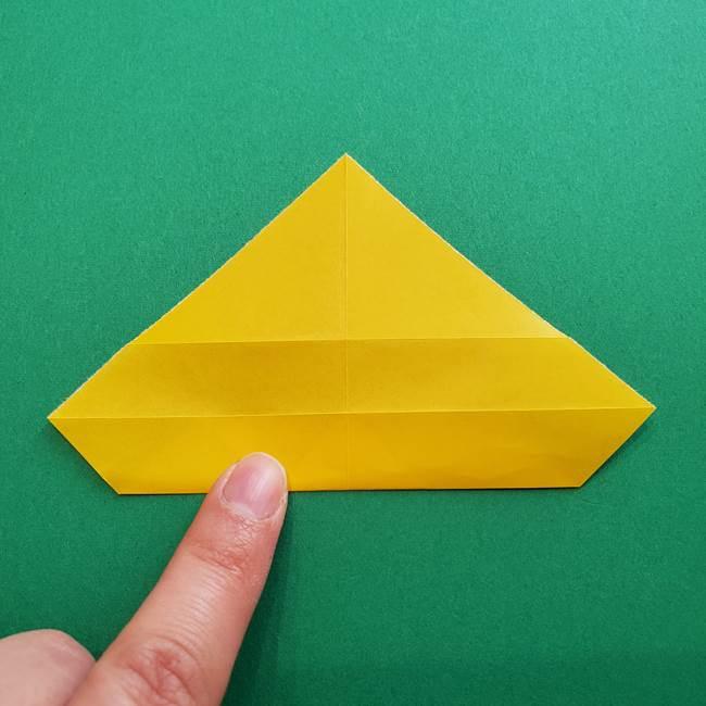 折り紙のダリア 16枚で立体的な折り方①上段(10)