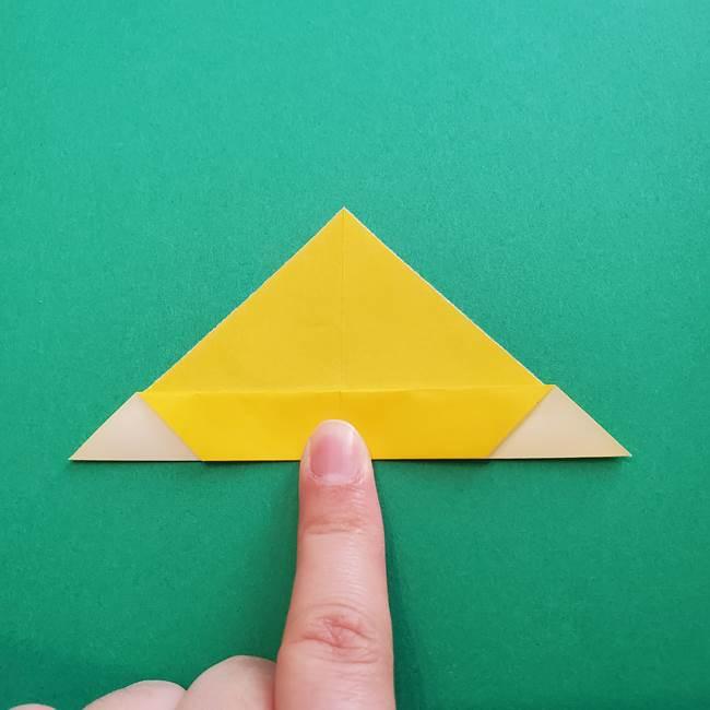 折り紙のダリア 16枚で立体的な折り方①上段(11)