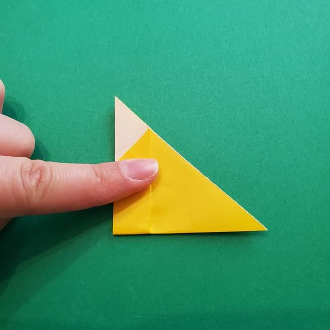 折り紙のダリア 16枚で立体的な折り方①上段(13)