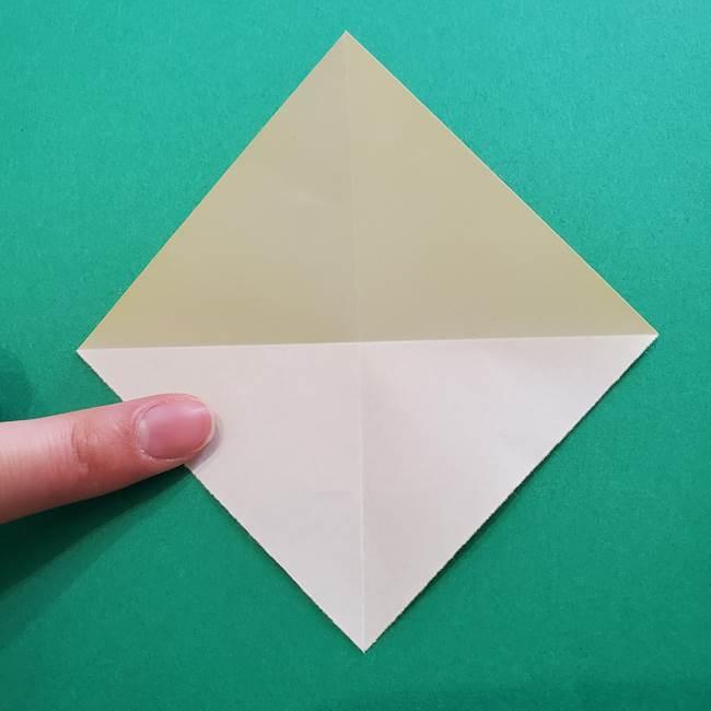 折り紙のダリア 16枚で立体的な折り方①上段(5)