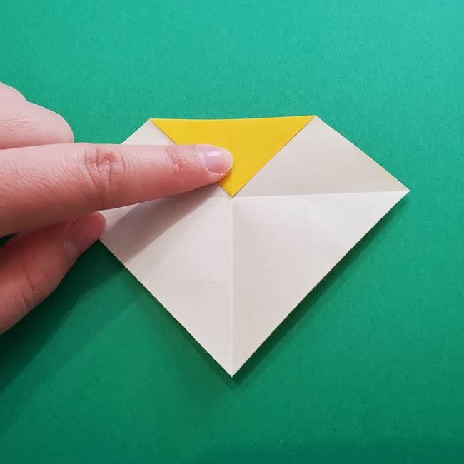 折り紙のダリア 16枚で立体的な折り方①上段(6)