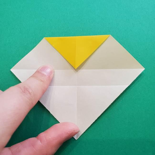 折り紙のダリア 16枚で立体的な折り方①上段(8)