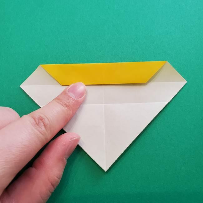 折り紙のダリア 16枚で立体的な折り方①上段(9)