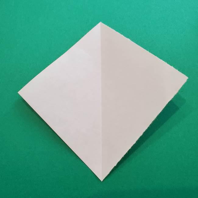 折り紙のダリア 16枚で立体的な折り方②下段(3)
