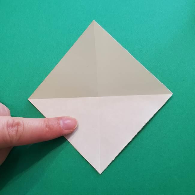 折り紙のダリア 16枚で立体的な折り方②下段(5)