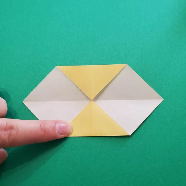 折り紙のダリア 16枚で立体的な折り方②下段(6)