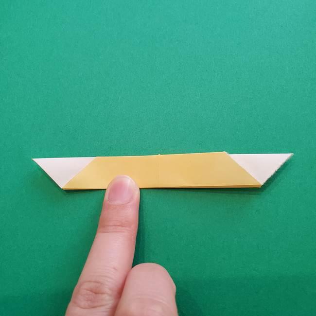 折り紙のダリア 16枚で立体的な折り方②下段(9)