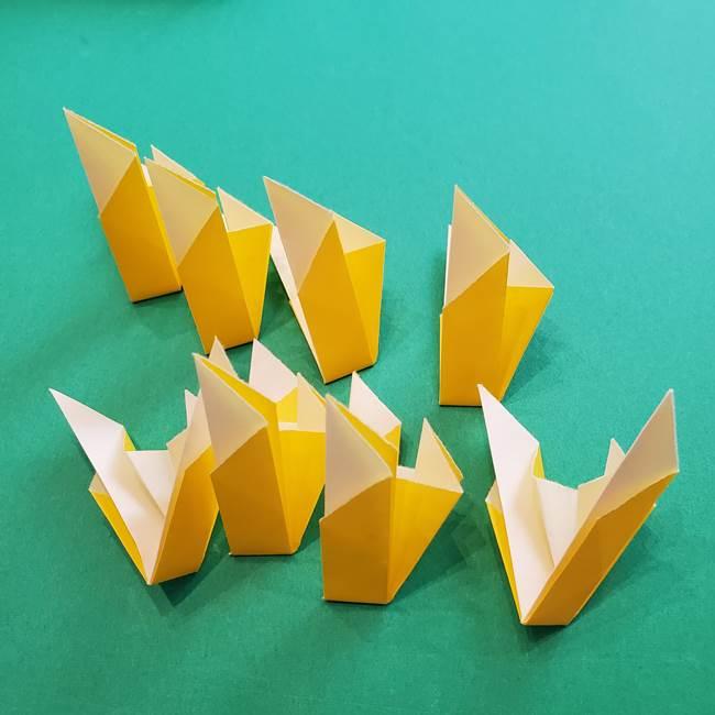 折り紙のダリア 16枚で立体的な折り方③完成(13)