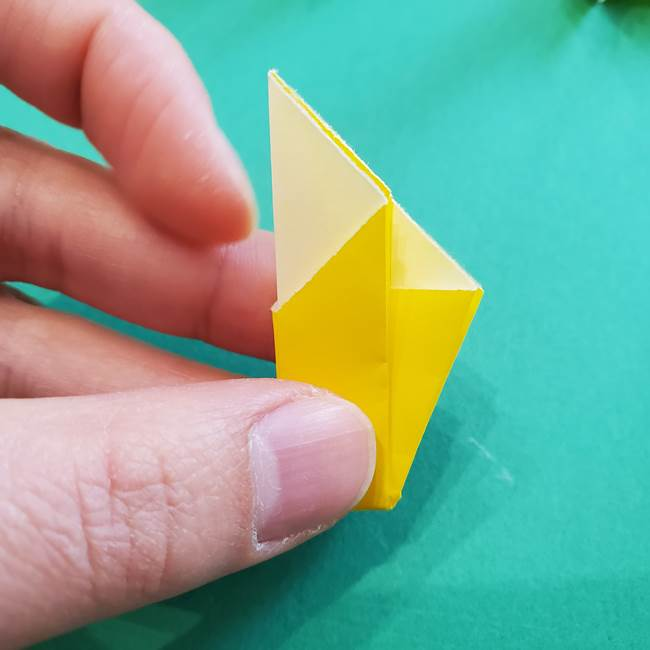 折り紙のダリア 16枚で立体的な折り方③完成(14)