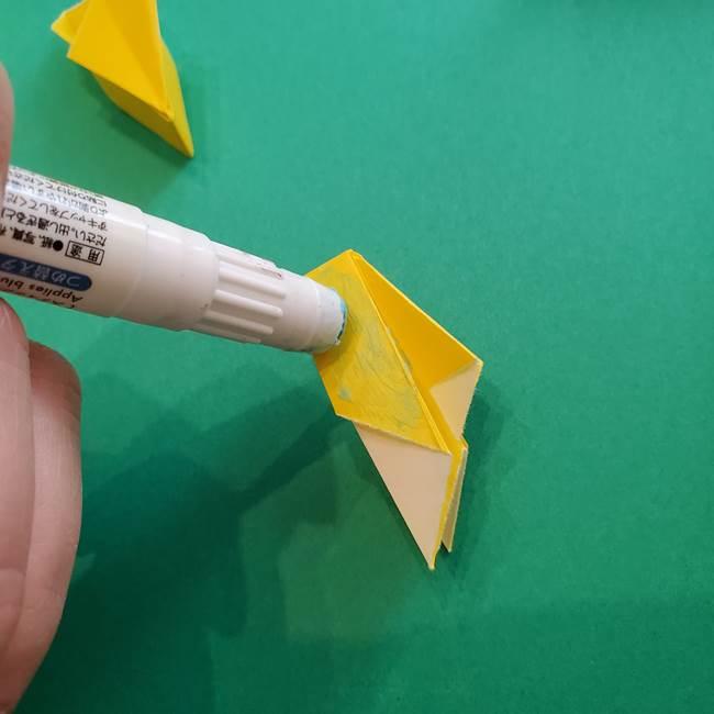 折り紙のダリア 16枚で立体的な折り方③完成(19)