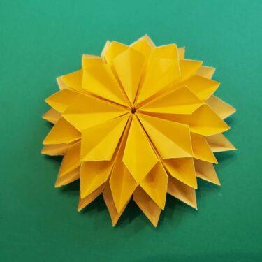 折り紙のダリア 16枚で立体的な折り方☆かわいい花を簡単手作り♪