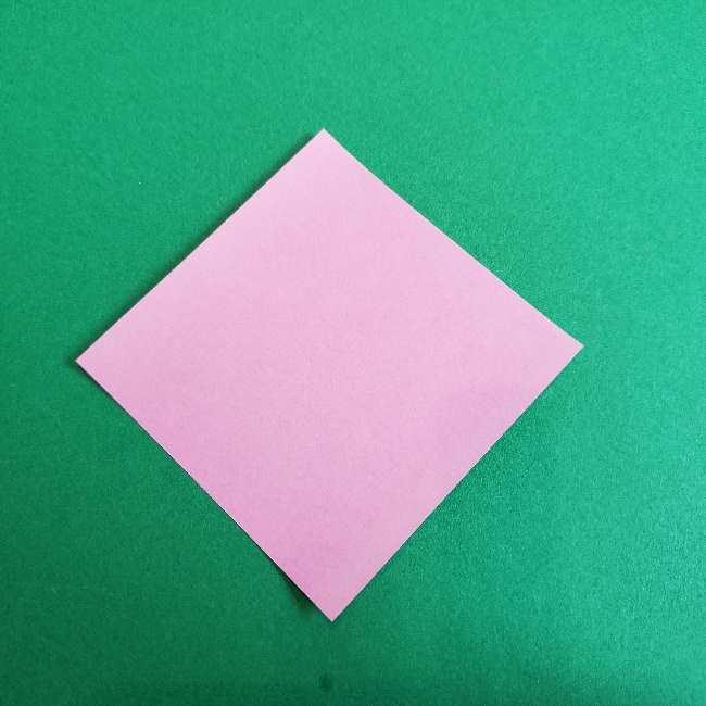 折り紙のチャーミーキティ*折り方作り方リボン (1)
