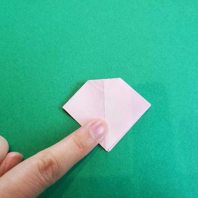 折り紙のチャーミーキティ*折り方作り方リボン (12)