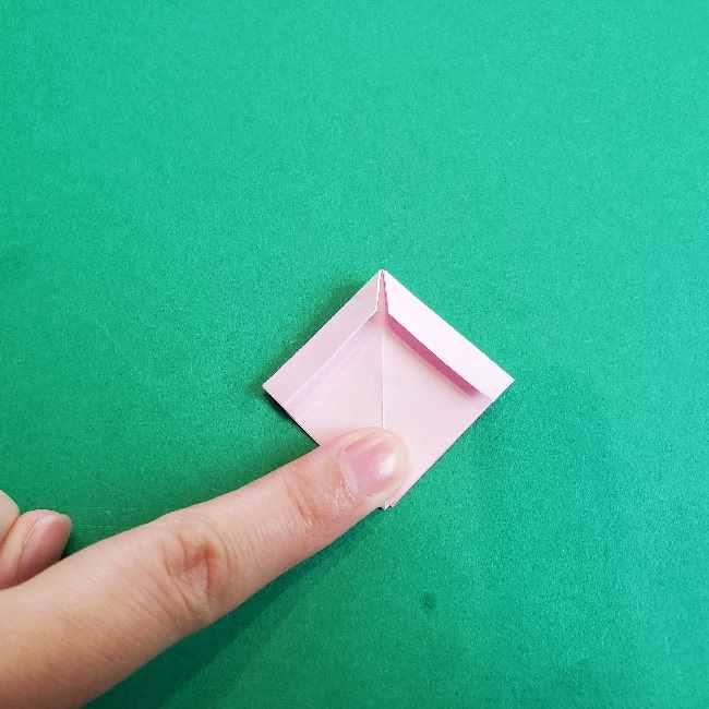 折り紙のチャーミーキティ*折り方作り方リボン (14)