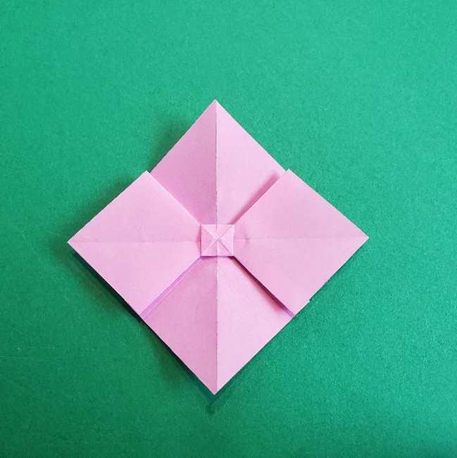 折り紙のチャーミーキティ*折り方作り方リボン (16)