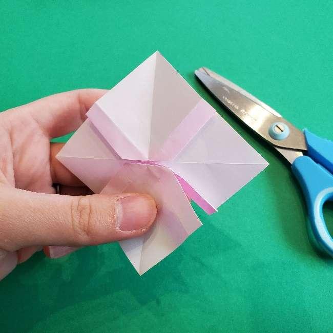 折り紙のチャーミーキティ*折り方作り方リボン (17)