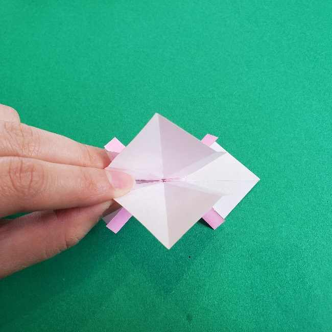 折り紙のチャーミーキティ*折り方作り方リボン (18)
