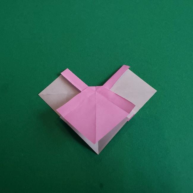 折り紙のチャーミーキティ*折り方作り方リボン (19)