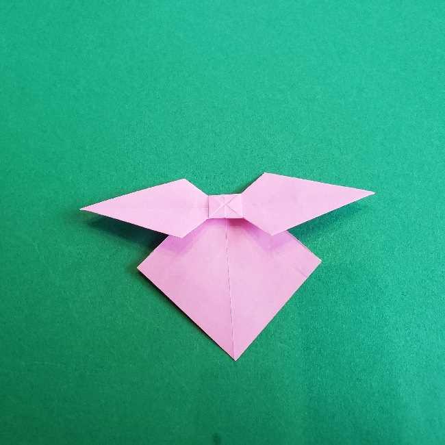 折り紙のチャーミーキティ*折り方作り方リボン (22)
