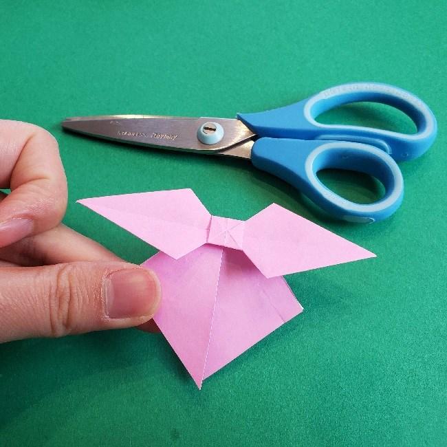 折り紙のチャーミーキティ*折り方作り方リボン (23)