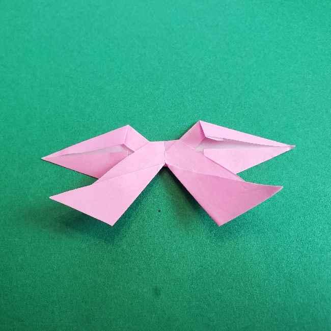 折り紙のチャーミーキティ*折り方作り方リボン (24)