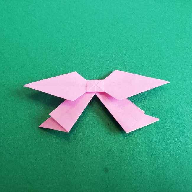 折り紙のチャーミーキティ*折り方作り方リボン (25)
