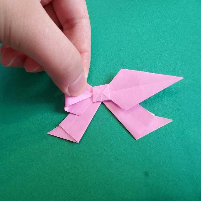 折り紙のチャーミーキティ*折り方作り方リボン (27)