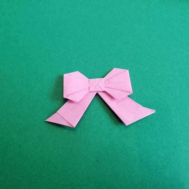 折り紙のチャーミーキティ*折り方作り方リボン (28)
