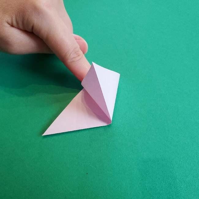 折り紙のチャーミーキティ*折り方作り方リボン (4)