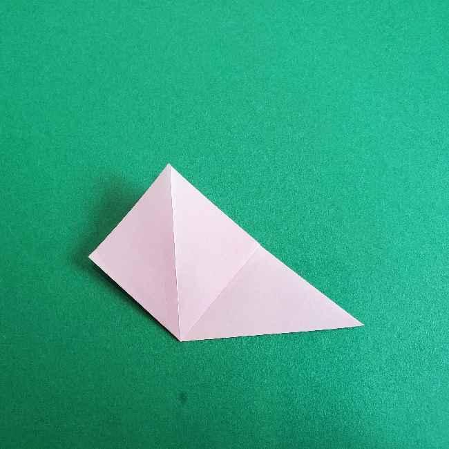 折り紙のチャーミーキティ*折り方作り方リボン (5)
