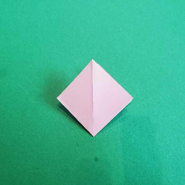 折り紙のチャーミーキティ*折り方作り方リボン (6)