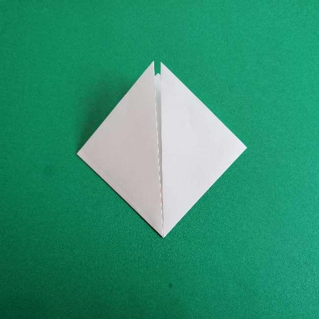 折り紙のチャーミーキティ*折り方作り方顔 (3)
