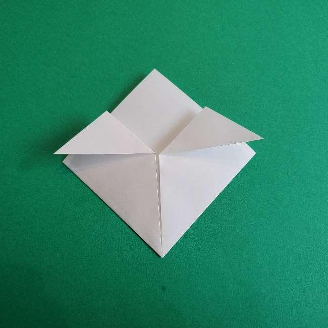 折り紙のチャーミーキティ*折り方作り方顔 (4)