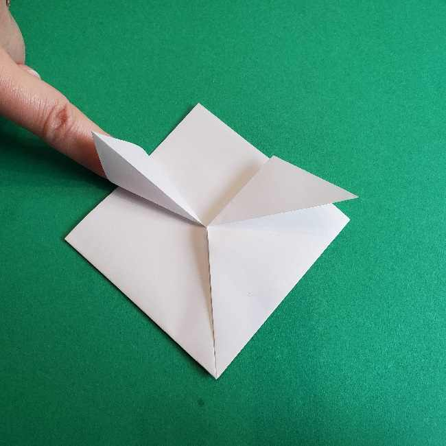 折り紙のチャーミーキティ*折り方作り方顔 (5)