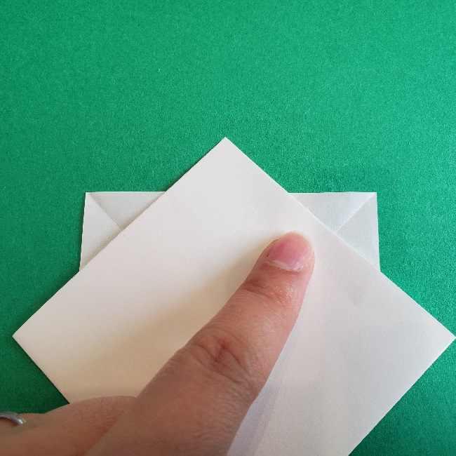 折り紙のチャーミーキティ*折り方作り方顔 (6)