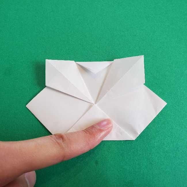 折り紙のチャーミーキティ*折り方作り方顔 (9)