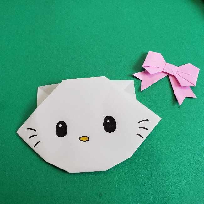 折り紙のチャーミーキティ*折り方作り方