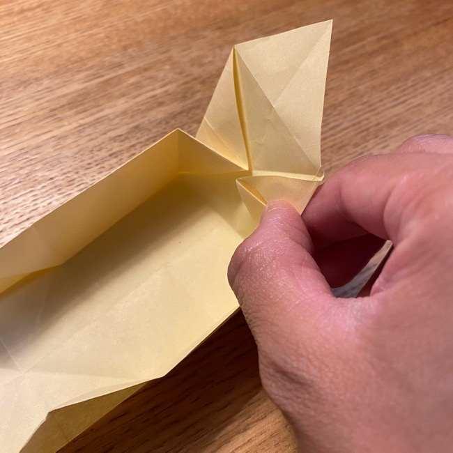 折り紙のポムポムプリン 立体的な箱*折り方作り方 (26)