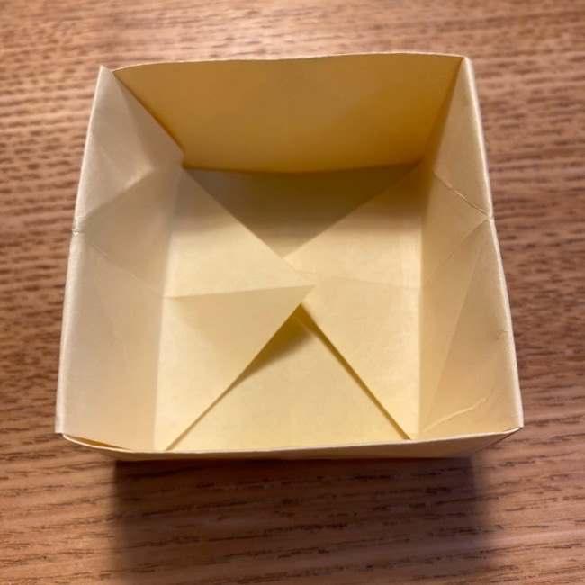 折り紙のポムポムプリン 立体的な箱*折り方作り方 (28)