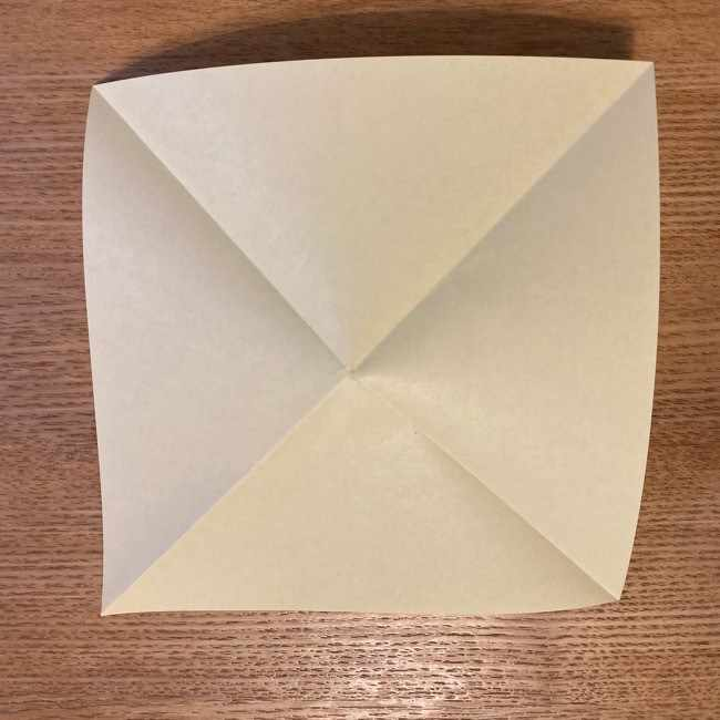 折り紙のポムポムプリン 立体的な箱*折り方作り方 (4)