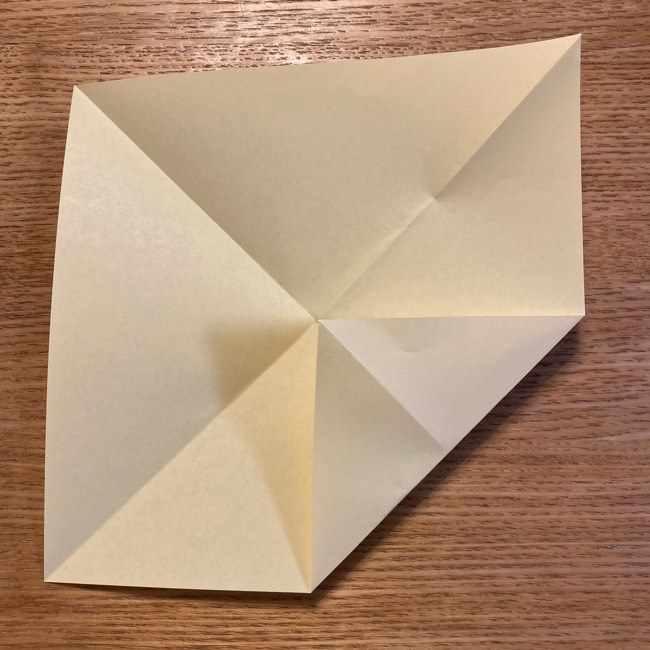 折り紙のポムポムプリン 立体的な箱*折り方作り方 (5)