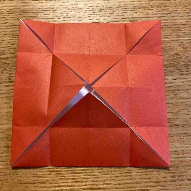 折り紙のポムポムプリン 立体的な箱*折り方作り方 (50)