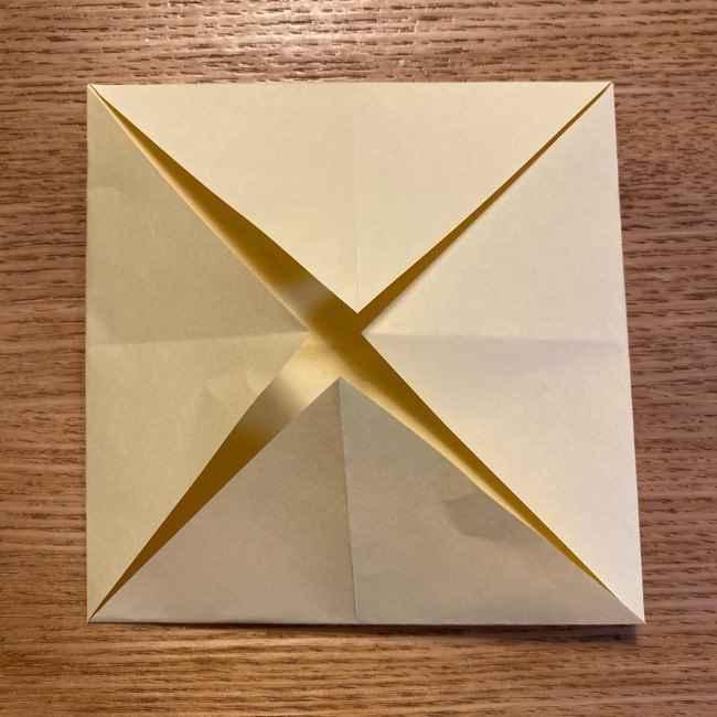 折り紙のポムポムプリン 立体的な箱*折り方作り方 (6)